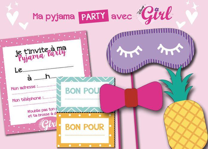 un kit pour une soiree pyjama disney girl