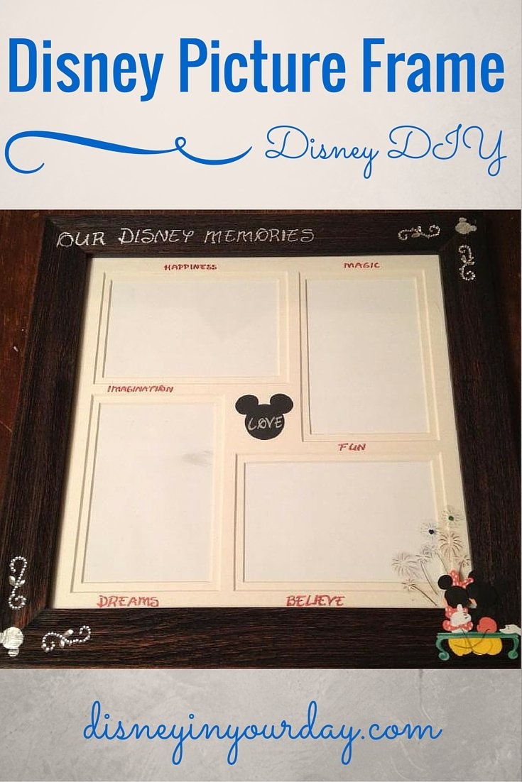 Crafty Corner How To Make An Awesome Disney Picture Frame