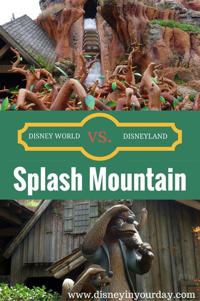 Disney World vs. Disneyland: Splash Mountain