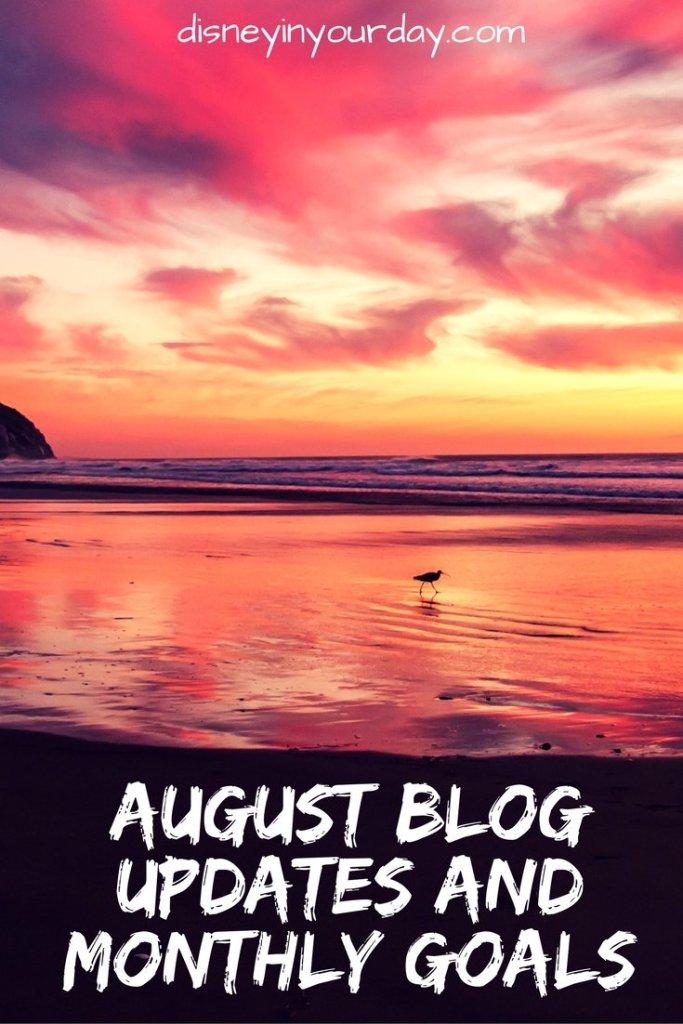 August 2016 blog updates and goals