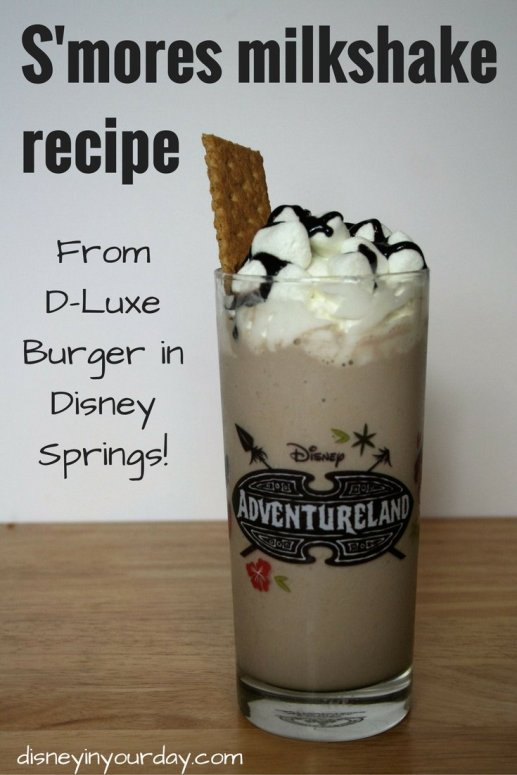 S'mores milkshake - Disney in your Day