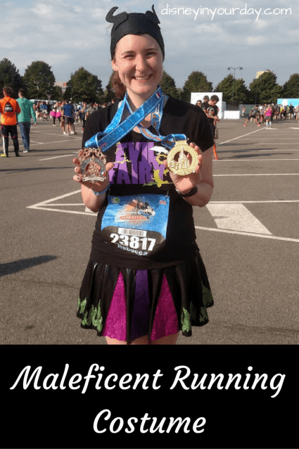 Maleficent running costume - Disney in your Day