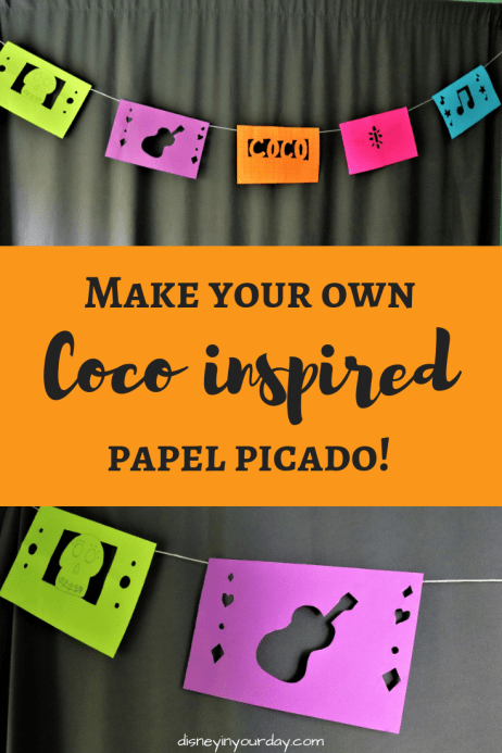 Coco papel picado - Disney in your Day