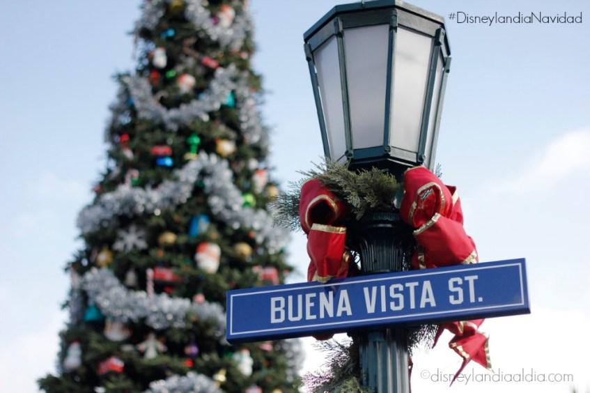 Buena Vista Street en Navidad