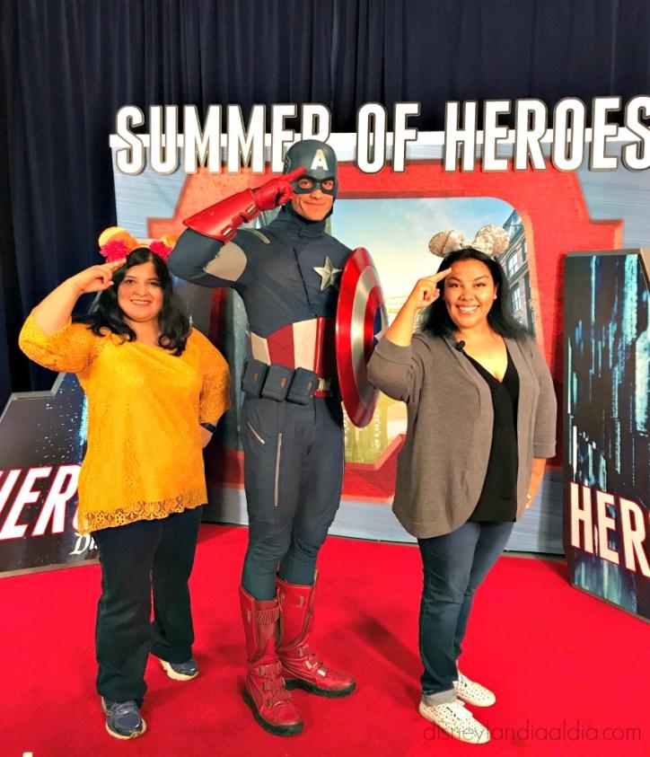 Silvia, Capitán América y Liz