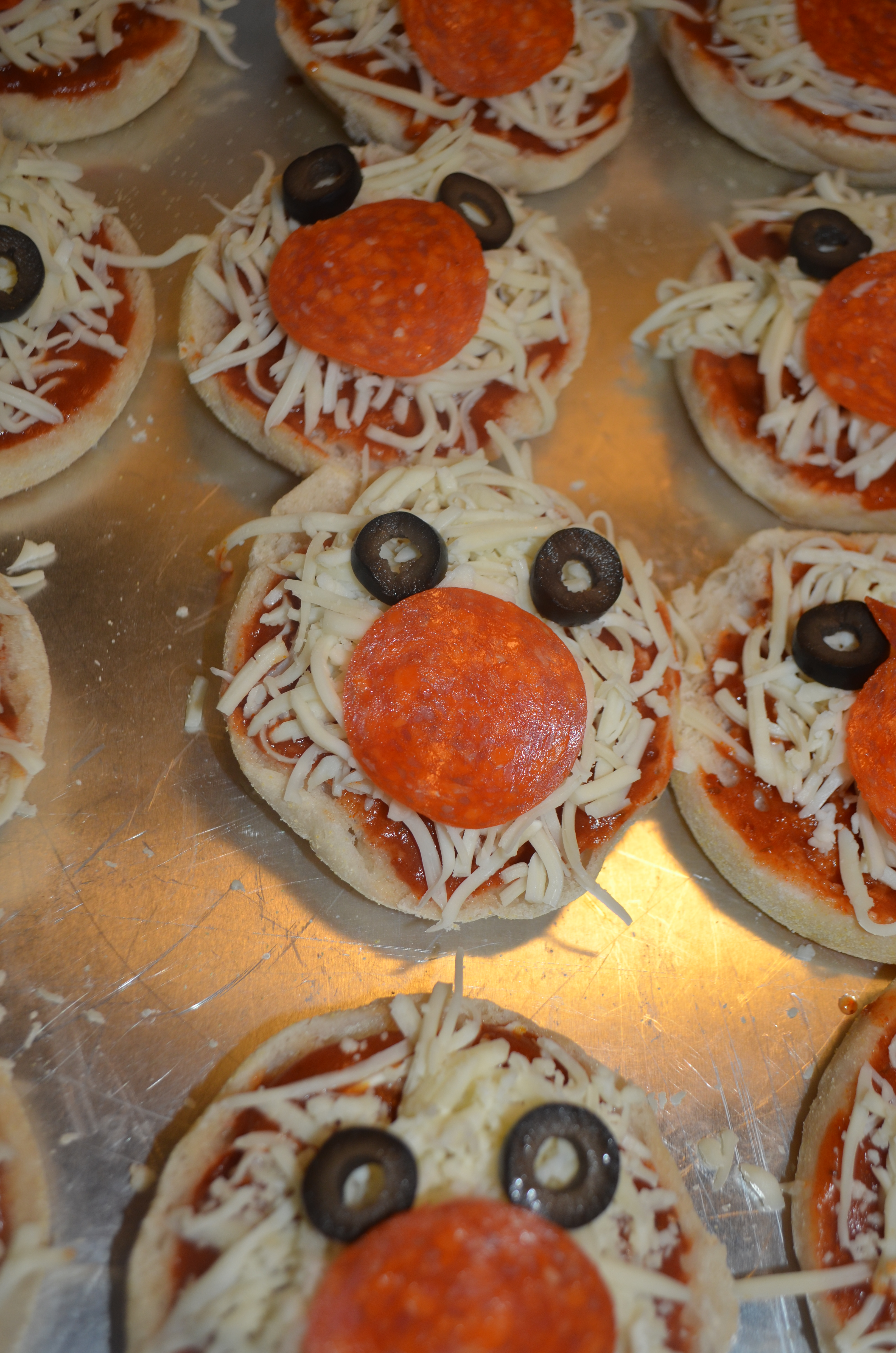 Mickey Mouse Meal English Muffin Pizzas And Mickey