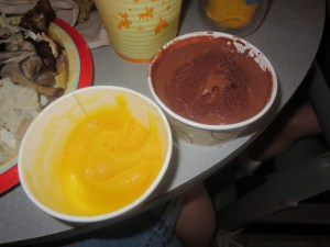 Mango and Chocolate Gelato - Cosmic Ray's Starlight Cafe (not a good pic, but the mango is so good)