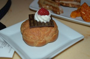 Lemon Raspberry Creme Puff - Be Our Guest Restaurant