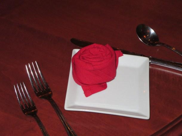 Rose Dinner Setting