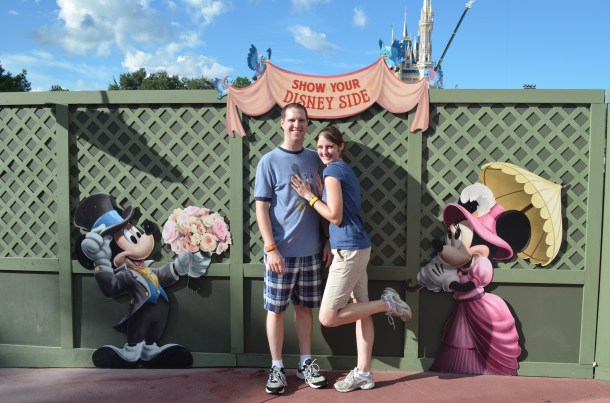 Don't laugh at my cheesy picture by this cute Photo Op location along the construction wall