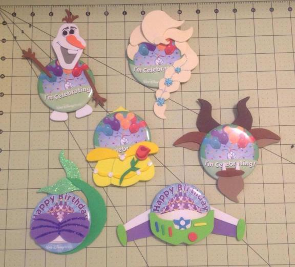 Olaf, Elsa, Belle, Beast, Ariel, and Buzz Pin-Heads