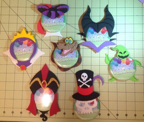 Disney Villain Pin-Heads