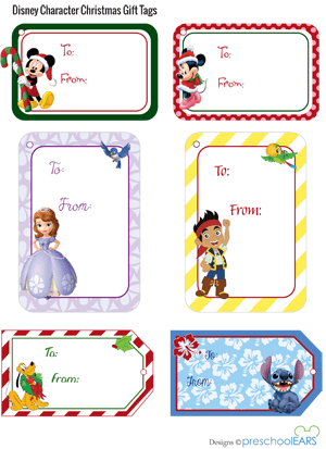 Christmas tags character and frozen