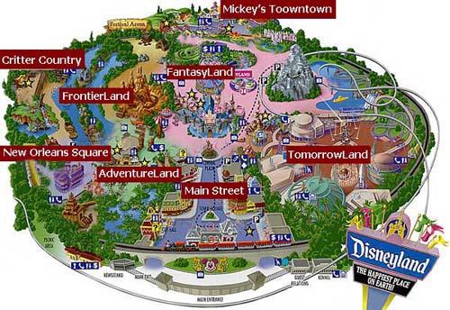 Map Of Disneyland Park