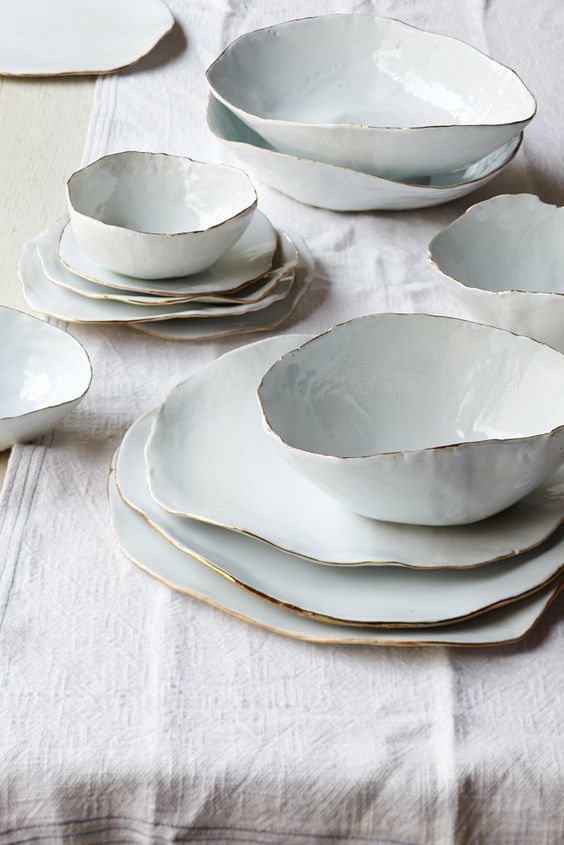 wabi-sabi ceramics - Molosco Dinner Set by Laura Letinsky