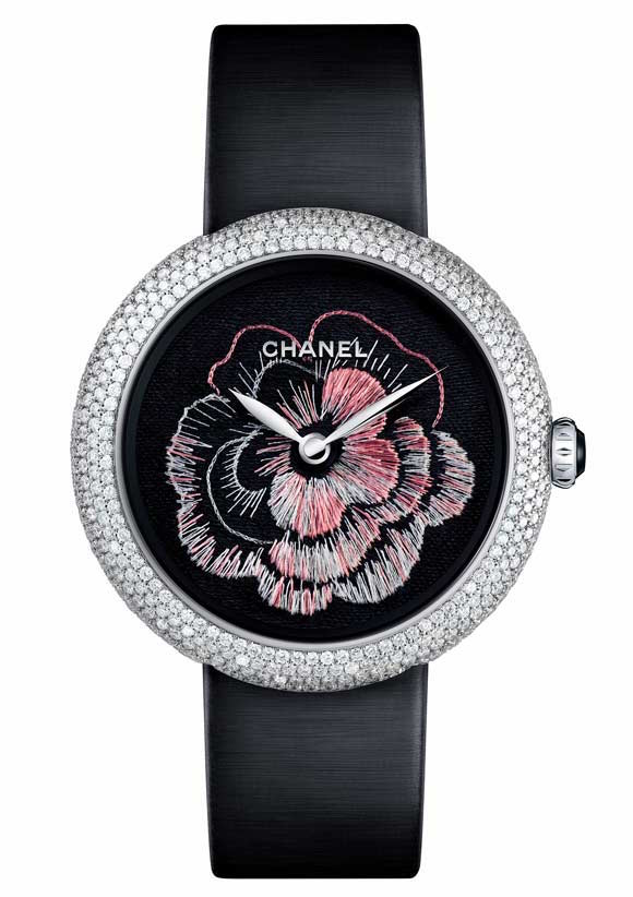 Chanel Lesage embroidered Camellia watch