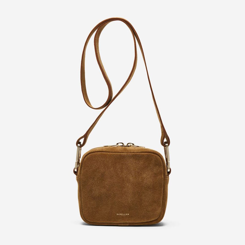 Demellier Athens suede tan bag