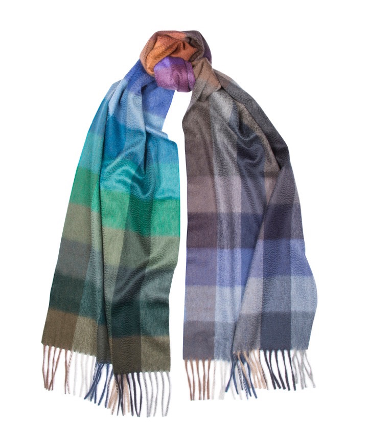 Begg & Co Arran 150th anniversary check scarf, limited edition