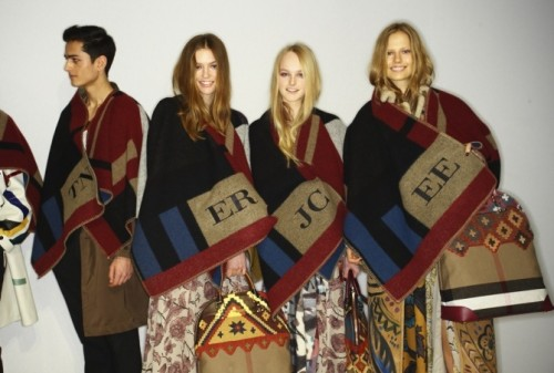 Burberry-aw14-blanket-poncho-cape 3