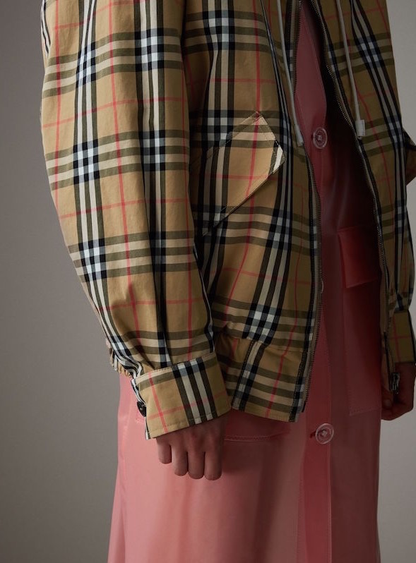 Burberry check harrington jacket aw17
