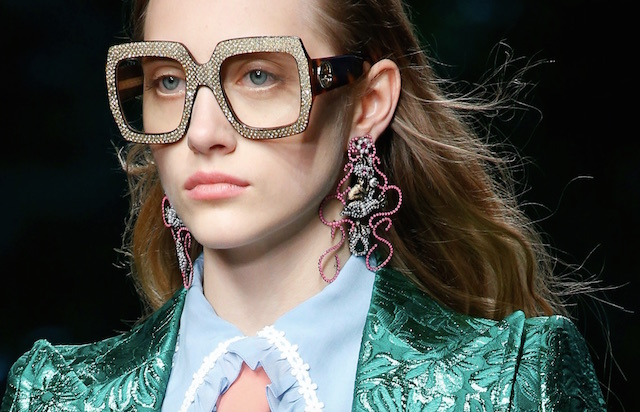 Gucci jumbo earrings and glasses