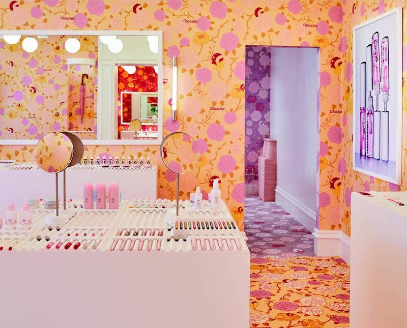 Glossier London Pop up Floral Street Covent Garden