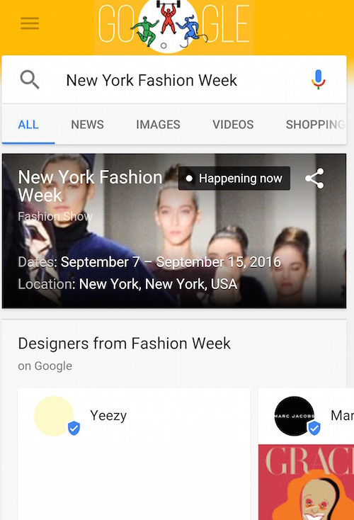 Google New York Fashion Week Yeezy