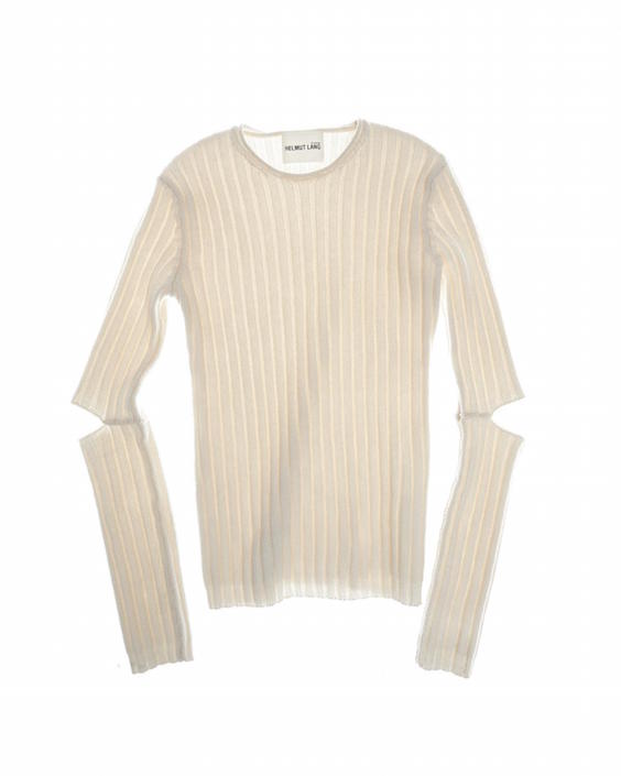Helmut Lang elbow cut out sweater