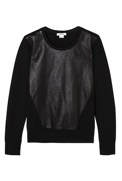 Helmut-Lang-leather-snake-print-sweatshirt