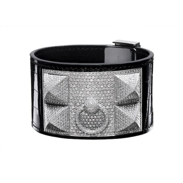 Hermes-Collier-de-Chien-Bracelet-White-Gold-Diamonds-Crocodile-Skin