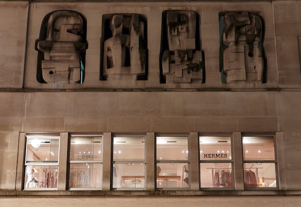 Hermes New Bond Street Henry Moore Frieze