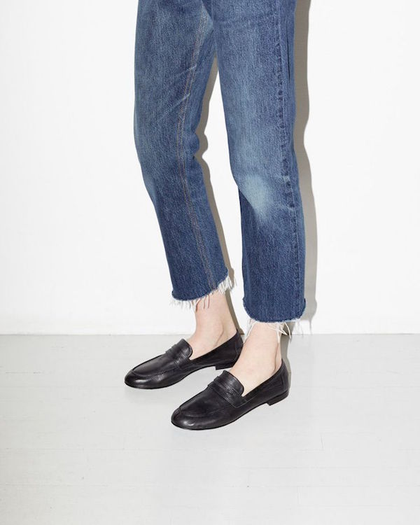 Jeans and loafers. Robert Clergerie loafers from La Garconne