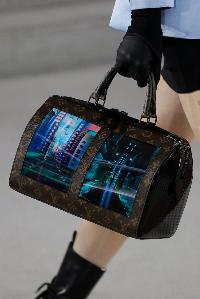 Louis Vuitton bag embedded with digital screen