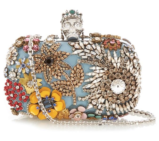 McQueen embellished clutch