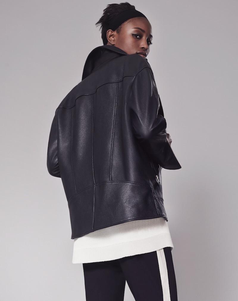 Me+Em boyfriend leather jacket