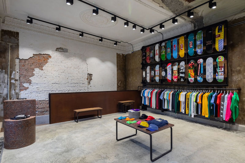 Oktyabr multibrand skate shop in Moscow conceived by upstart brand Rassvet - Pic by Hypebeast