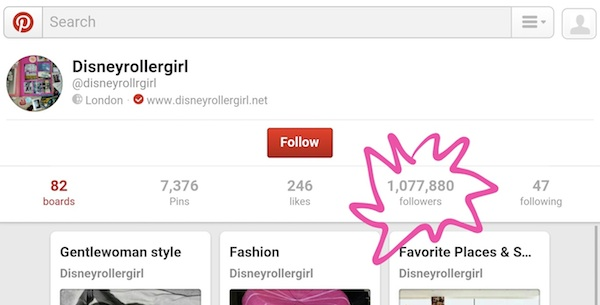 How to get a million Pinterest followers by Disneyrollergirl
