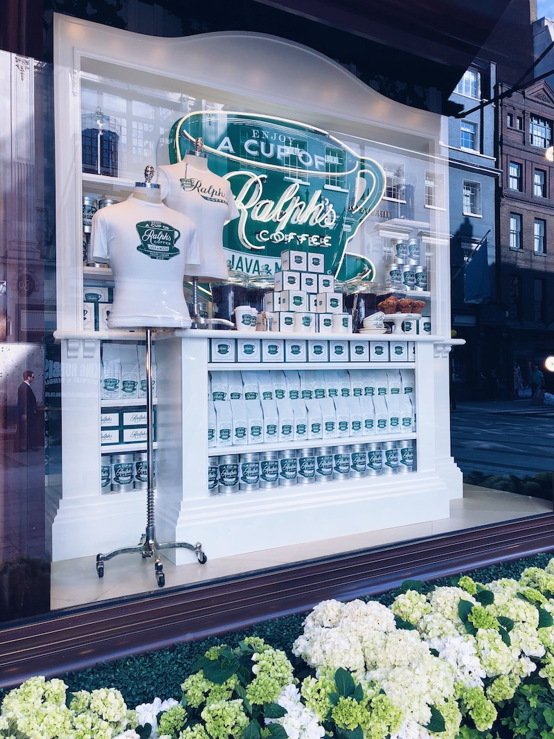 Ralph's Coffee New Bond Street pop up