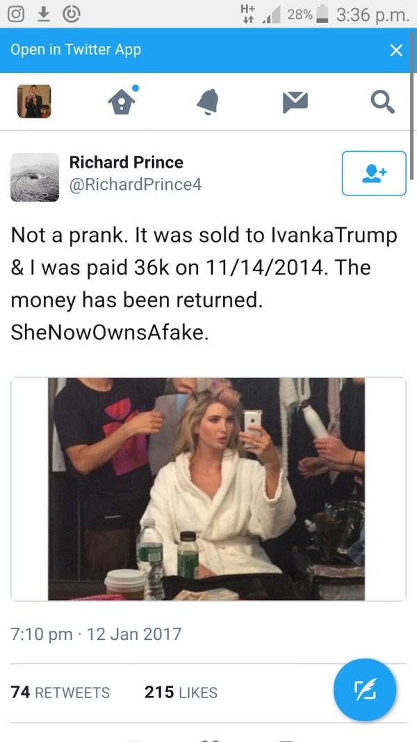 Richard Prince Ivanka Trump