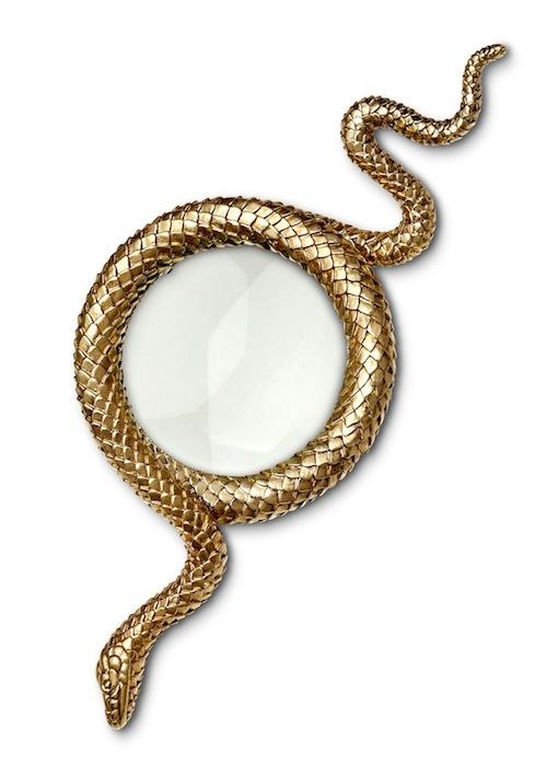l-Objet-Snake-Magnifying-Glass-Gold