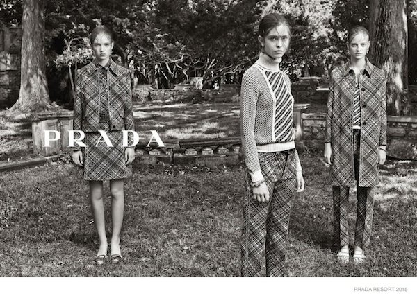 Prada Resort 2015 campaign by Steven Meisel