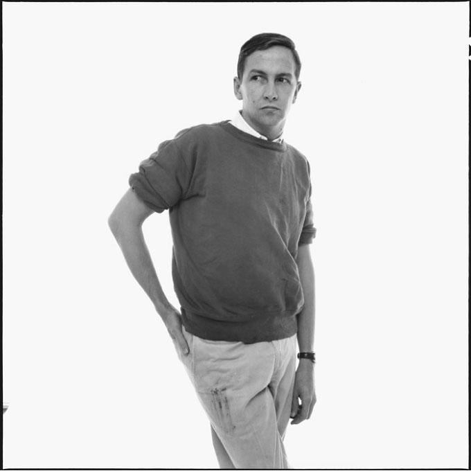robert Rauschenberg chinos and sweatshirt Richard avedon 1960
