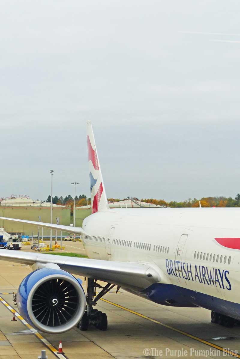 British Airways Aeroplane - Gatwick to Orlando, Florida (MCO)