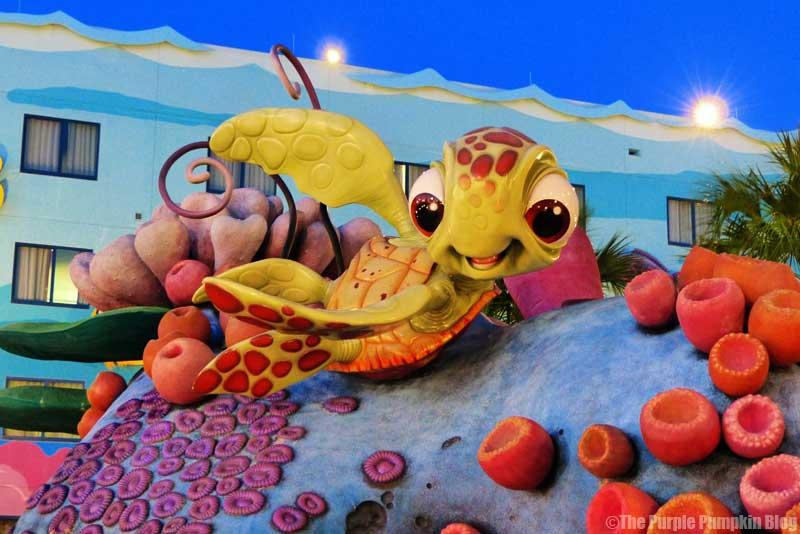 Disney's Art of Animation Resort - Finding Nemo Courtyard - Squirt Statue