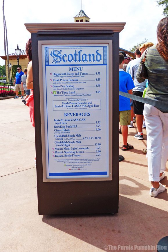 Epcot Food & Wine Festival 2015 - Scotland Booth