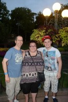 Us at Epcot World Showcase - Canada Pavilion