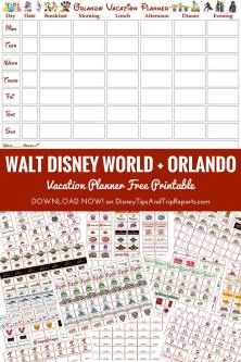 Walt Disney World, Orlando, Florida Vacation Planner - Free Printable