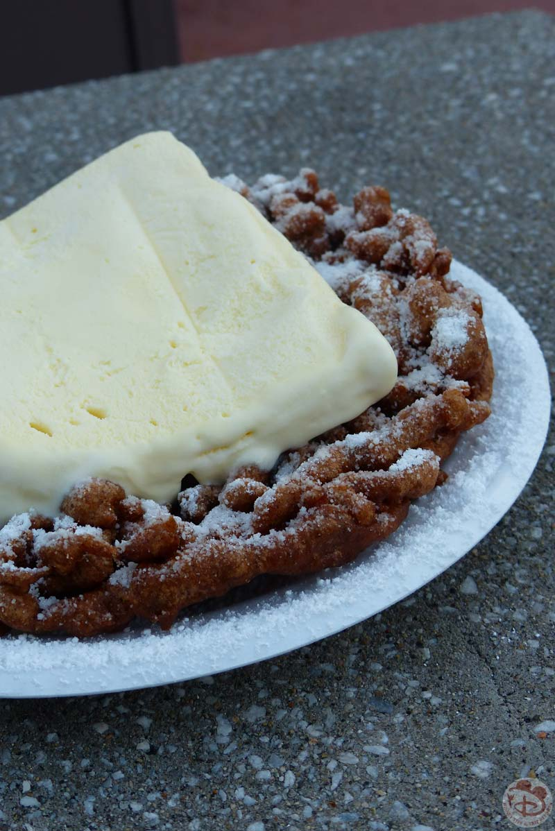 Chocolate Funnel Cake - Epcot Food & Wine Festival