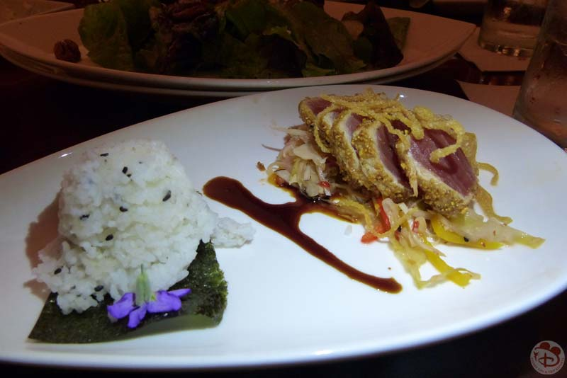 Togarashi-Pumpkin Seed-Crusted Ahi Tuna - Hollywood Brown Derby