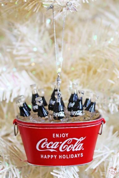 Coca-Cola Bucket Christmas Ornament